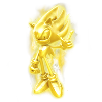 Golden Super Sonic Statue Render by Nibroc-Rock
