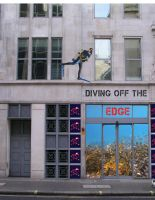 Ad Diving-off-the-Edge-Building-Wrap by Lauren-Lee