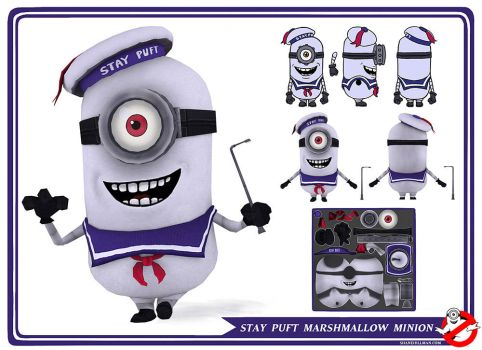 Stay Puft Marshmallow Minion by BryanTheEvery