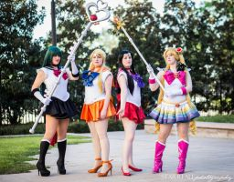 Sailor Senshi at the ready by MissMina2
