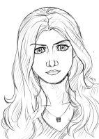 Alex Daddario sketch by AtelierEdge