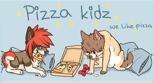 Pizza Kidz .:speedpaint:. by SushiiWolf