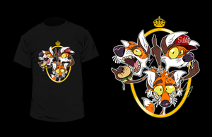 Three fox swag T-shirt by Zerda-Fox