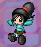 Vanellope Doll for Nikki by WingedHippocampus