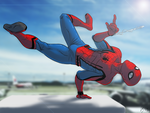 Civil War Spidey Flippin Out by slamadin