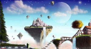 Speed painting - Floating Islands by IRCSS