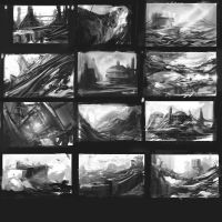 environment sketches by Gin-L