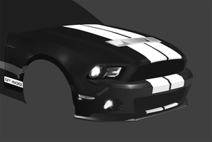 Mustang GT500-uncomplete by Artush