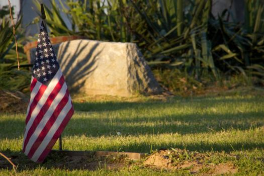 Flag at Gravesite by DaveCarpe