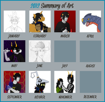 2012 Art Summary by CloakedNobody