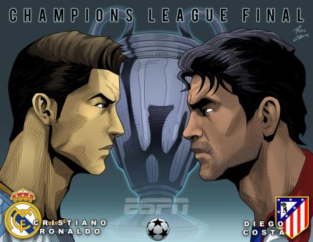 Champions League Final Ronaldo and Costa by phil-cho