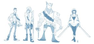 Character Designs by Paranoidvin