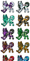 25 points adoptables OPEN! by reaper334