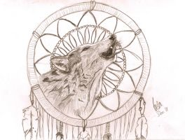 Wolf Dreamcatcher by Disturbed-Leeshie