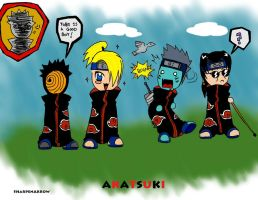 Akatsuki group Chibi's by SharpenArrow