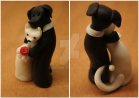 Wedding cake topper by Ompabop
