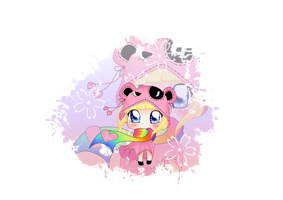 Chibi Comission 1/5: Pink by Angie-MR
