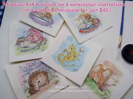4x4 Commission Paintings by JoannaBromley