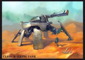 walking tank by AKIRAwrong