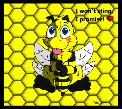 Fluffy Bumble Bee by Toby512