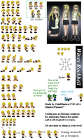 Winry Rockbell Sprite Sheet by ShadowFlames17