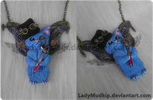 Steampunk Catbug Necklace (Bravest Warriors) by LadyMudkip