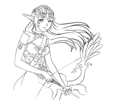 Belen the Archer Sketch by Chibi-Narusegawa