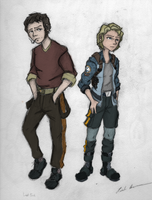 OC: Joe and Claire (Colored) by drawing-wannabe