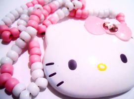 Hello Kitty Kandi Necklace by DEATHxWISH143