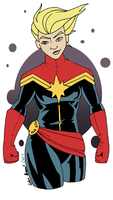 Captain Marvel by GeekyAnimator