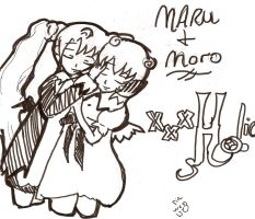 maru and moro from xxholic by rinweb