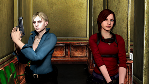 Jill Valentine and Claire Redfield by Mister-Valentine