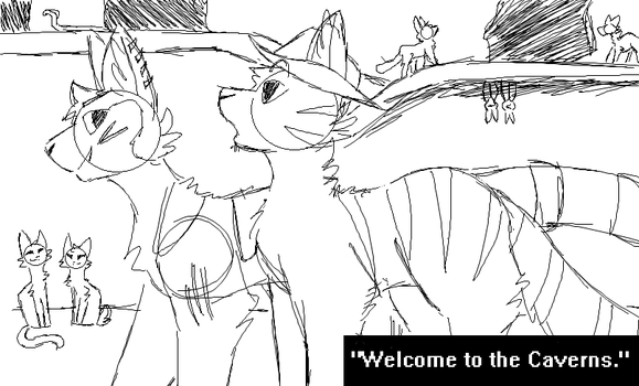 'Welcome to the Caverns' sketch by WildestPath