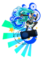 =Commission= Miku Hatsune by Emy-san