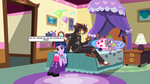 Shadow and Twilight in Pinkie's Bedroom by CyrilSmith