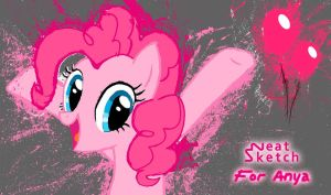 A Silly Pinkie Pie Wall Painting by NeatSketch