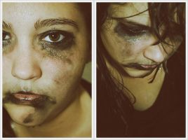Battered Woman by saniakhanphotography