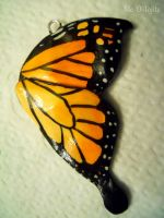 Monarch Butterfly Wing Charm by Me-O-Tojite