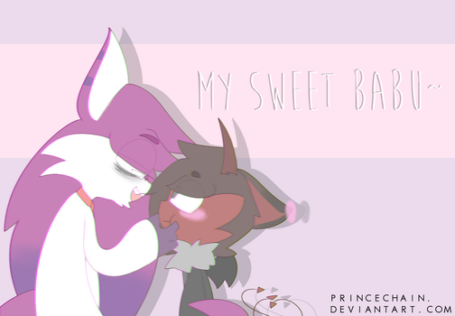 ( SPEEDPAINT ) My sweet babu by PrinceChain
