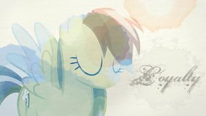 Rainbow Dash (Loyalty) Wallpaper by Chadbeats