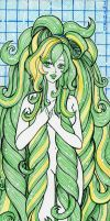 #8- Summer Commission - Green Lady by ImthenD