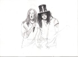 Ozzy and Slash -1 by Witneil