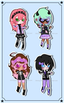 [Pastel Goth] Random Adopt Set 35 (Open 1/4) by Shining-Star-Adopts