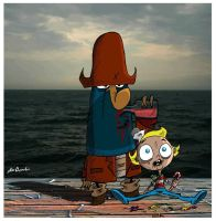 Flapjack and Cap'n K'nuckles.. by uppitycracker