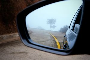 Look at the view in the rearview mirror by jonsonox