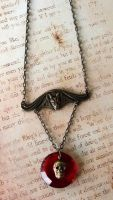 Vampire Bats Treasure Necklace by FusedElegance
