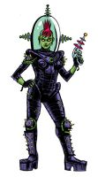 space zombie girl by ZombPunk