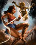 Wonder Woman VS Cheetah by DavidDeMendoza