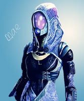 Tali'Zorah from the Mass Effect trilogy by sailormae
