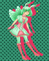 Flying Mint Bunny Gijinka by SebaDeya-chan
